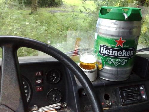 Bier achter het stuur